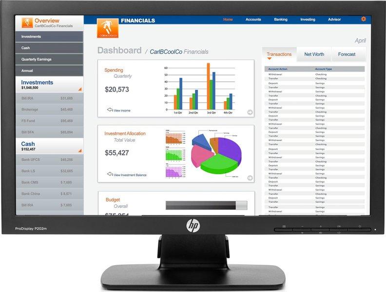 HP ProDisplay P202m Monitor