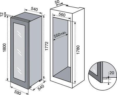 Electrolux WI3300DXV Weinkühler