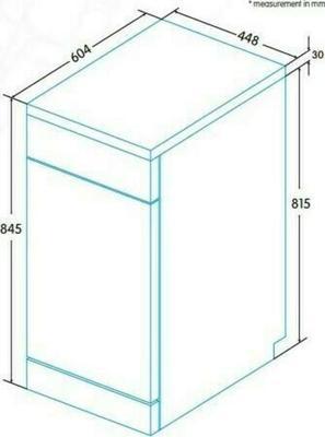 Edesa EDW-4591 WH Dishwasher