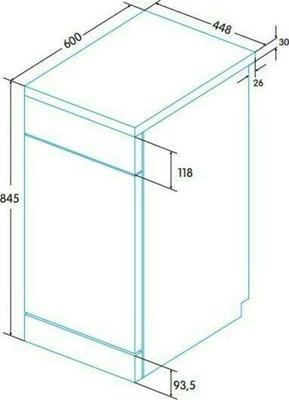 Edesa EDW-4592 X Dishwasher