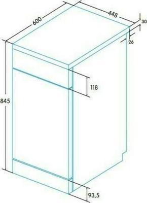 Edesa EDW-4692 X Dishwasher