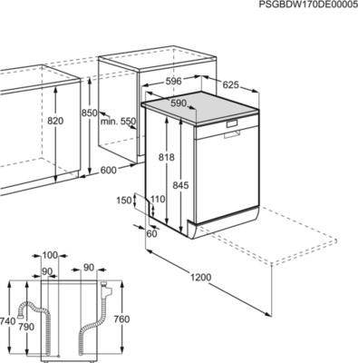 Zanussi ZDF36011XA Dishwasher