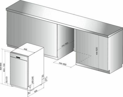 Whirlpool WSBC 3M17 X Dishwasher