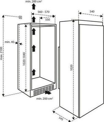 Inventum K1020 Kühlschrank
