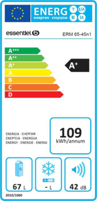 EssentielB ERM 65-45N1 Kühlschrank