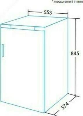 Edesa EFS-0811 WH Kühlschrank