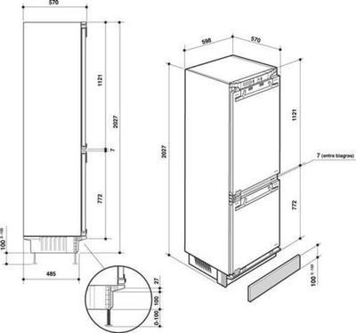 De Dietrich DRC1033I Kühlschrank