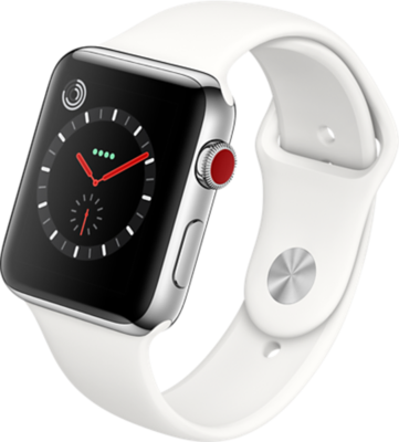 Apple Watch Series 3 4G 42mm Stainless Steel with Sport Band Smartwatch