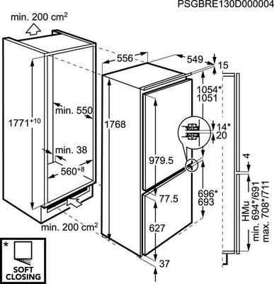 AEG SCS51800F1 Réfrigérateur