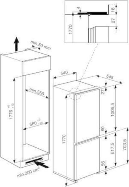 Whirlpool ART 6501/A+ Refrigerator