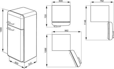 Smeg FAB30RFN Réfrigérateur
