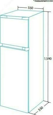 Edesa EFT-1611 Kühlschrank