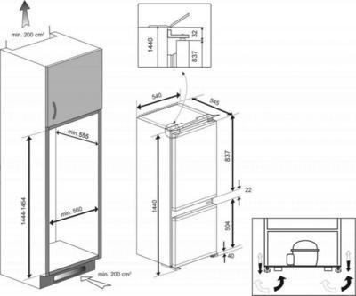 Beko BCSA240K3S Kühlschrank