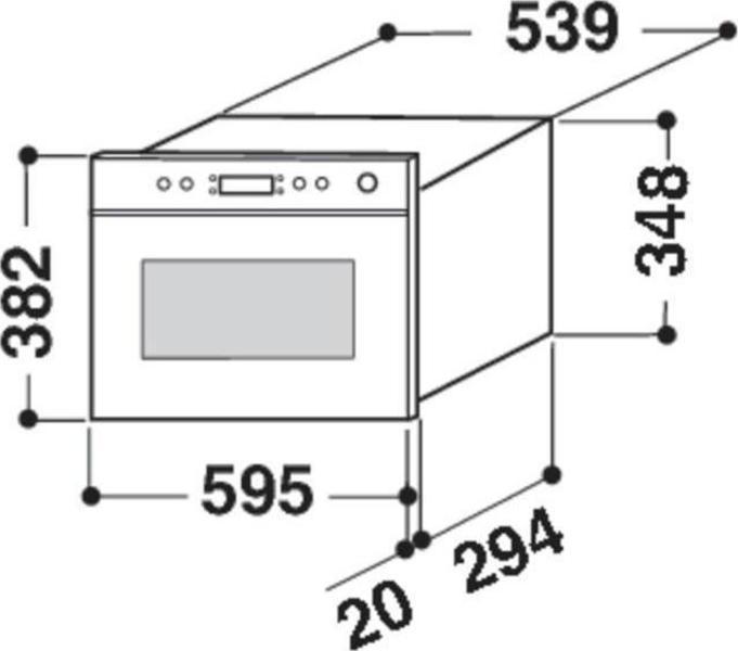 Whirlpool AMW 494/IX Microwave