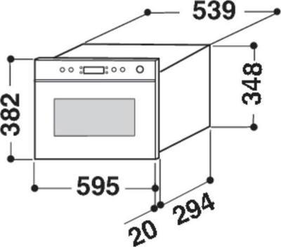 Whirlpool AMW 494/IX Mikrowelle