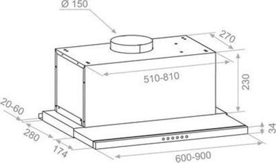 Pando IES 6212 90cm