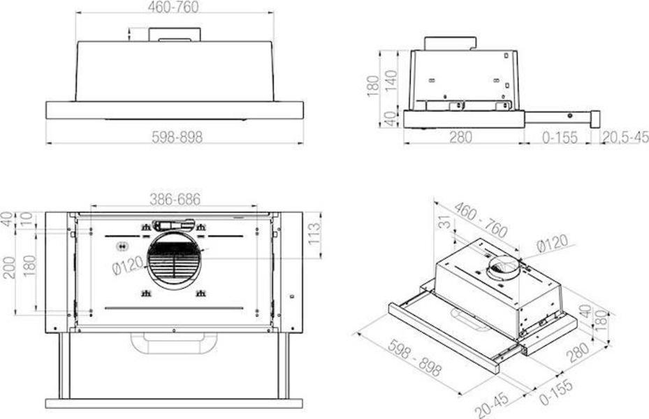 Whirlpool AKR 469/IX Range Hood