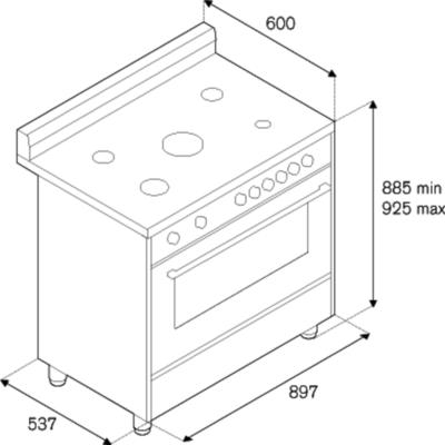Bertazzoni RIS9 5C 61 B XB