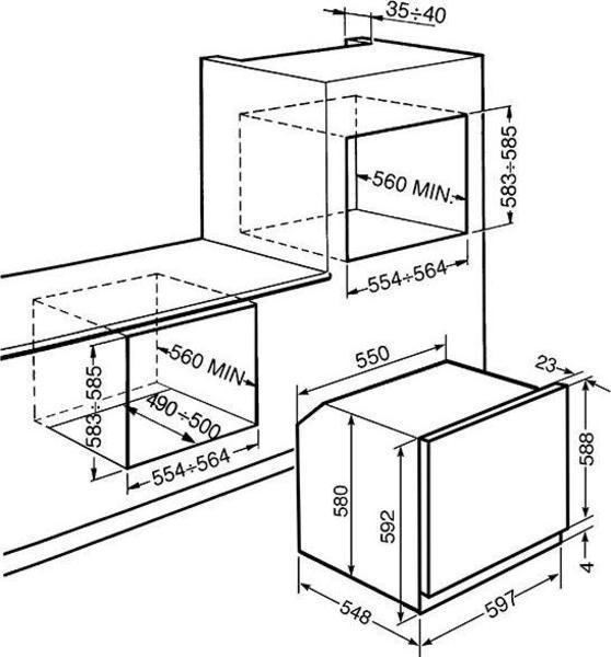 Smeg SF568X Wall Oven