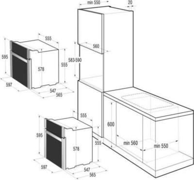 Gorenje BO71ORAX Wall Oven