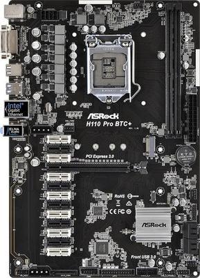 ASRock H110 Pro BTC+ Motherboard