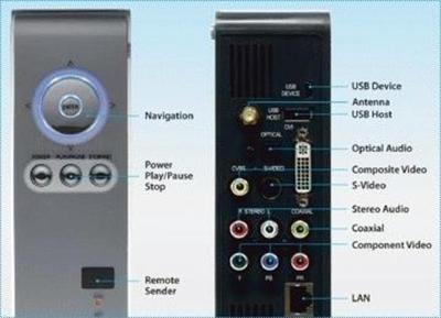 Freecom MP-350 WLAN 400GB Odtwarzacz multimedialny