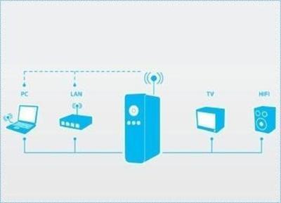 Freecom MP-350 WLAN DriveIn Odtwarzacz multimedialny