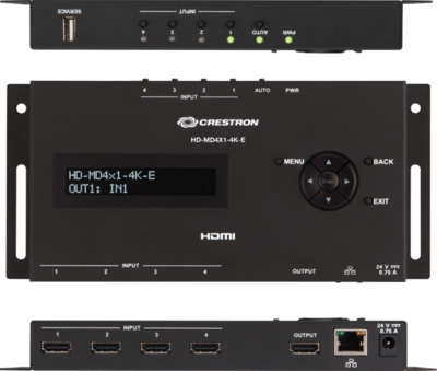 Crestron HD-MD4X1-4K-E Videoschalter