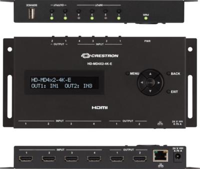 Crestron HD-MD4X2-4K-E Videoschalter