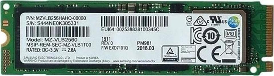 Samsung PM981 MZVLB256HAHQ