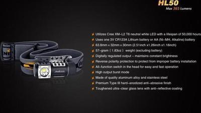 Fenix HL50 Flashlight