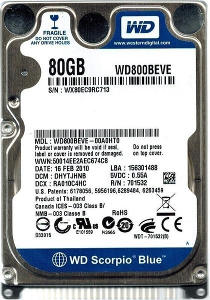 WD Blue WD800BEVE 80 GB