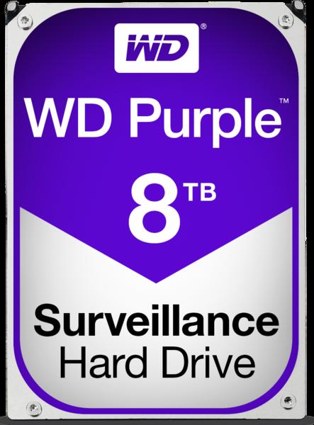 WD Purple Surveillance Hard Drive WD80PUZX 8 TB