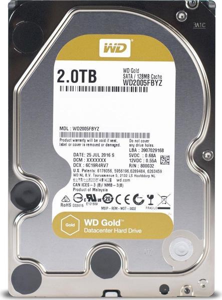 WD Gold Datacenter Hard Drive WD2005FBYZ 2 TB