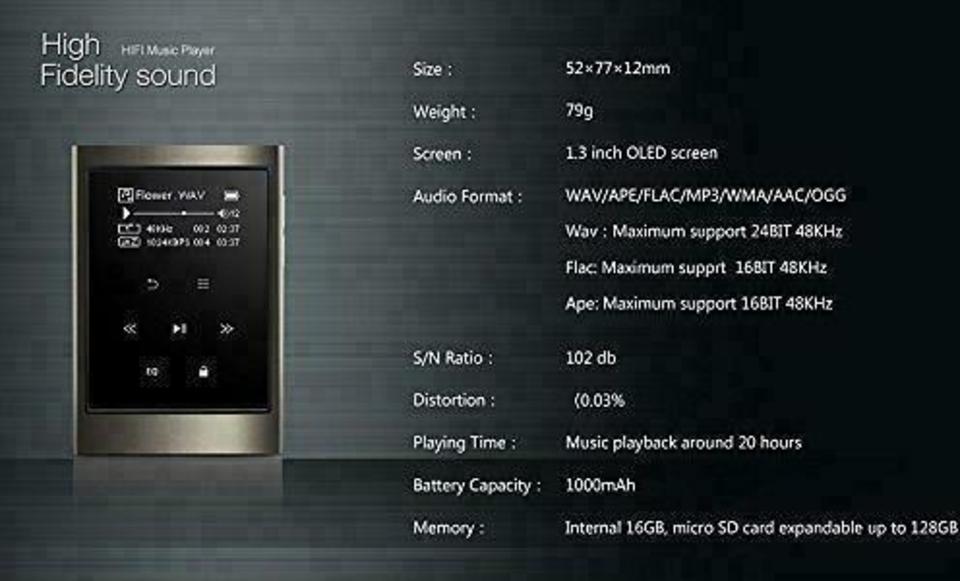 AGPtek IMP 16GB Odtwarzacz MP3