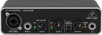 Behringer U-Phoria UMC22 Karta dźwiękowa