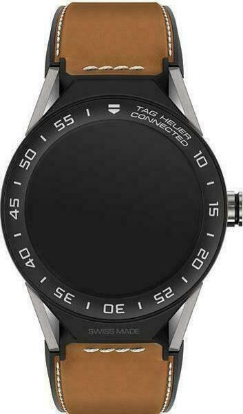 Tag Heuer Connected Modular 45 Ceramic with Leather Band smartwatch