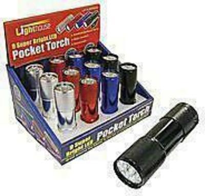 Lighthouse Super Bright 9 LED Pocket Torch Lampe de poche