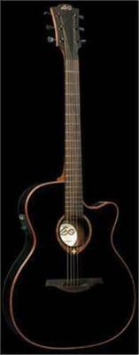 LAG Tramontane T100ASCE Slim-Line Auditorium Cutaway Electric (CE) Acoustic Guitar