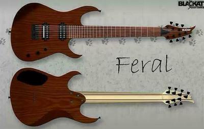 BlacKat Guitars Feral D7