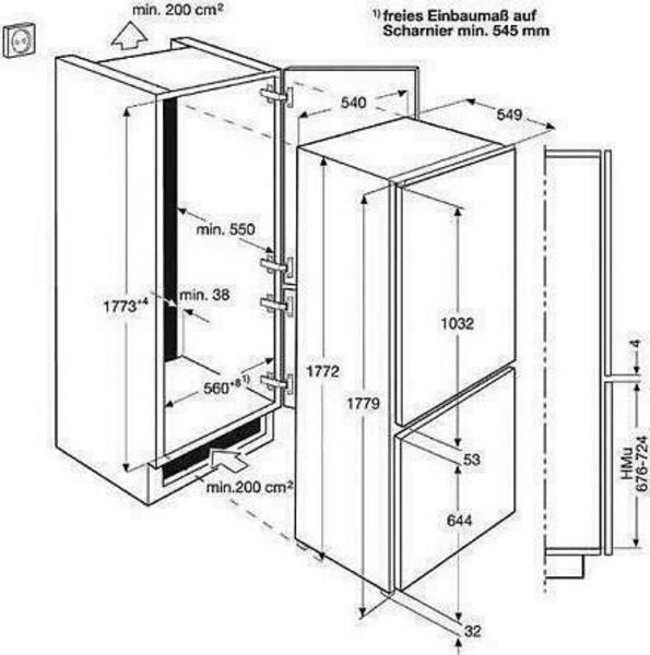Electrolux ENN2841AOW refrigerator