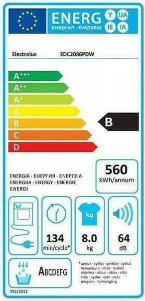 Electrolux EDC2086PDW Tumble Dryer