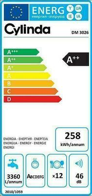 Cylinda DM 3026 Dishwasher