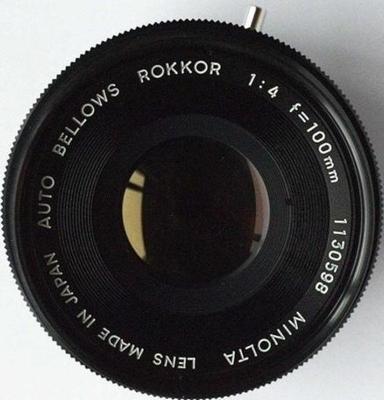 Minolta Auto Bellows Rokkor 100mm f4 MC I (1969) Lens