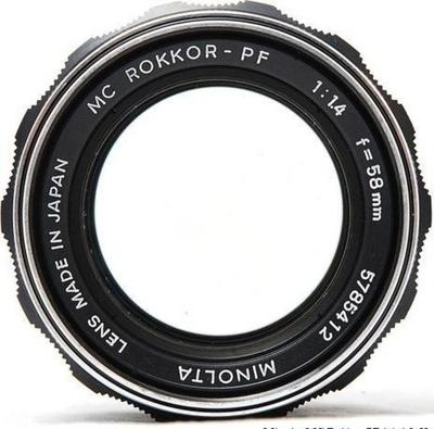 Minolta Auto Rokkor-PF 58mm f1.4 SR (1962) Lens
