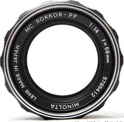 Minolta Auto Rokkor-PF 58mm f1.4 SR (1961) Lens