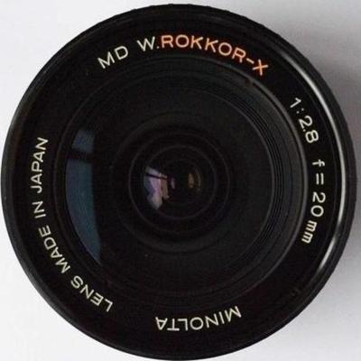 Minolta MC W.Rokkor(-X) 20mm f2.8 MC-X (1976)