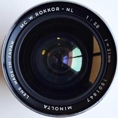 Minolta MC W.Rokkor(-X) NL 21mm f2.8 MC-X (1973)