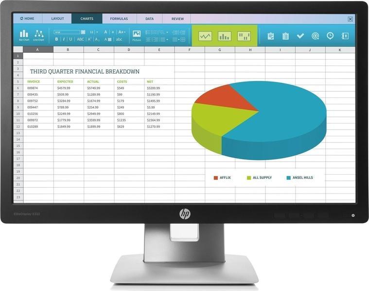 HP EliteDisplay E222 Monitor