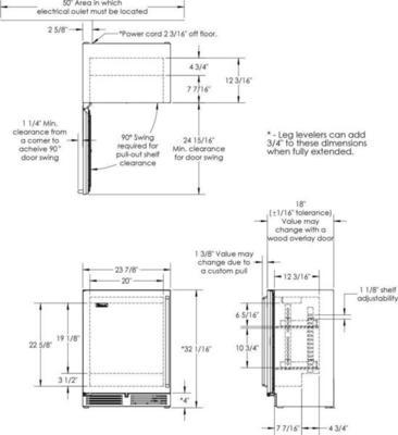 Perlick HH24RS3 Kühlschrank